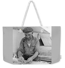 Weekender Tote Bag featuring the photograph It's My Job by John Stephens