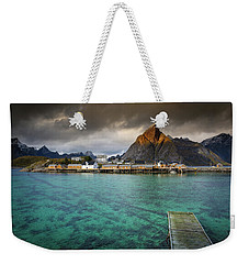 It's Not The Caribbean Weekender Tote Bag by Alex Conu