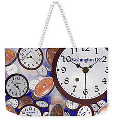It's Raining Clocks - Washington D. C. Weekender Tote Bag