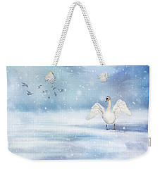 Weekender Tote Bag featuring the photograph It's Snowing by Annie Snel