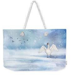 It's Snowing Weekender Tote Bag by Annie Snel