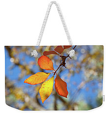Weekender Tote Bag featuring the photograph It's Time To Change by Linda Unger