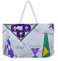 It's Wine O'clock Text Weekender Tote Bag