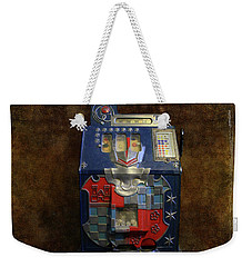 It's Your Dime-1936 Antique Slot Machine Weekender Tote Bag by Donna Kennedy