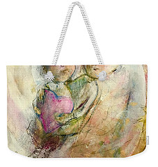Weekender Tote Bag featuring the painting I've Got Yuo by Eleatta Diver