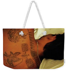 Weekender Tote Bag featuring the photograph I've Just Been So Enjoying The Street by Mr Photojimsf