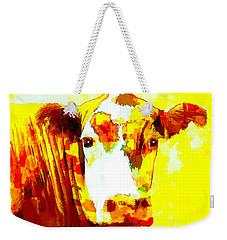 Yellow Cow Weekender Tote Bag