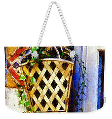 Ivy French Country White Weekender Tote Bag by Janine Riley