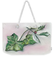 Ivy Leaves And Holly Weekender Tote Bag