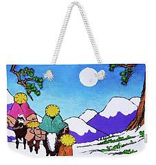 Iwaki Wa Fuyu - San Ni Weekender Tote Bag by Roberto Prusso