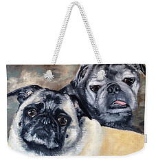Weekender Tote Bag featuring the painting Jack And Bella by Diane Daigle
