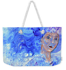 Weekender Tote Bag featuring the painting Jack Frost's Girl by Claire Bull