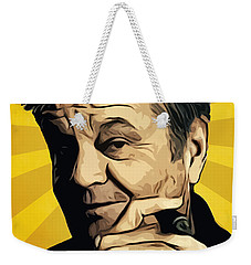 Jack Nicholson 3 Weekender Tote Bag by Semih Yurdabak