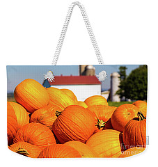 Jack-o-lantern Pumpkins At Farm Weekender Tote Bag