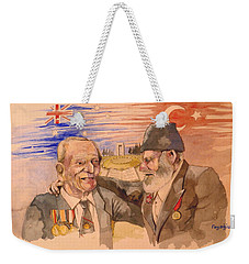 Jack Ryan And Hyseyin Kacmaz Weekender Tote Bag by Ray Agius