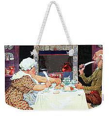 Jack Sprat Vintage Mother Goose Nursery Rhyme Weekender Tote Bag by Marian Cates