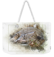 Weekender Tote Bag featuring the digital art Jack by Sue Collura