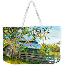 Weekender Tote Bag featuring the painting Jack's Place by Jim Phillips