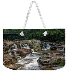 Weekender Tote Bag featuring the photograph Jackson Falls by Cindy Lark Hartman