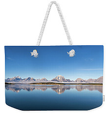 Weekender Tote Bag featuring the photograph Jackson Lake by Mary Hone