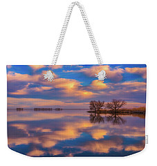 Weekender Tote Bag featuring the photograph Jackson Lake Sunset by Darren White