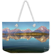 Jackson Lake Tetons Refection Weekender Tote Bag