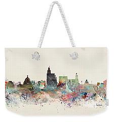 Jackson Mississippi Skyline Weekender Tote Bag
