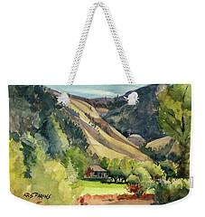 Weekender Tote Bag featuring the painting Jackson Solitude by Kris Parins