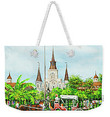 Jackson Square Carriage Weekender Tote Bag