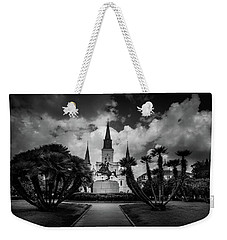 Jackson Square Sunrise In Black And White Weekender Tote Bag