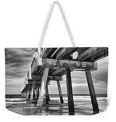 Jacksonville Beach Florida Usa Pier Weekender Tote Bag by Vizual Studio