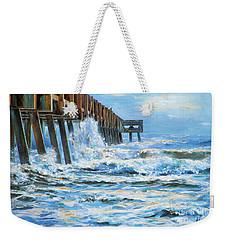 Jacksonville Beach Pier Weekender Tote Bag