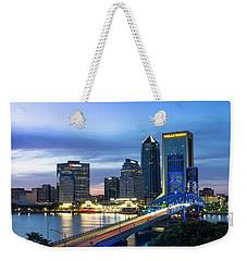Jacksonville Nights Weekender Tote Bag
