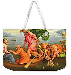Weekender Tote Bag featuring the photograph Jacopo Bassano Fishes Miracle by Munir Alawi