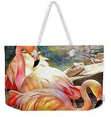 Jacqueline's Flamingos Weekender Tote Bag
