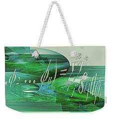 Weekender Tote Bag featuring the photograph Jade Enigma by Robert G Kernodle
