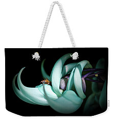 Weekender Tote Bag featuring the photograph Jade by Laura DAddona