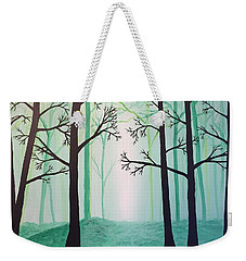 Jaded Forest Weekender Tote Bag