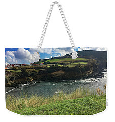 Weekender Tote Bag featuring the photograph Jagged Coast Of Terceira by Kelly Hazel