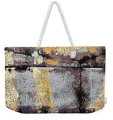 Jagged Lavendar Weekender Tote Bag by Maria Huntley
