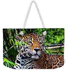 Jaguar At Peace Weekender Tote Bag