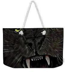 Weekender Tote Bag featuring the digital art Jaguar by Darren Cannell
