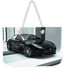 Jaguar F-type - Black Retro Weekender Tote Bag