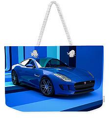 Jaguar F-type - Blue Retro Weekender Tote Bag