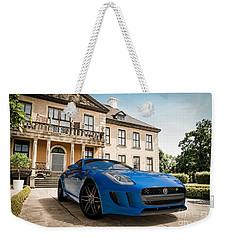 Jaguar F-type - Blue - Villa Weekender Tote Bag