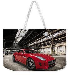 Jaguar F-type - Red - Front View Weekender Tote Bag