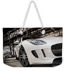 Jaguar F-type - White - Front Close-up Weekender Tote Bag