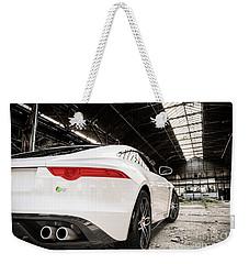 Jaguar F-type - White - Rear Close-up Weekender Tote Bag