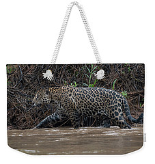 Jaguar In River Weekender Tote Bag by Wade Aiken