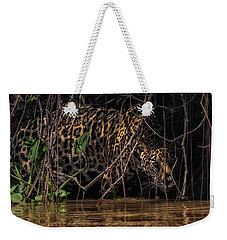 Jaguar In Vines Weekender Tote Bag by Wade Aiken